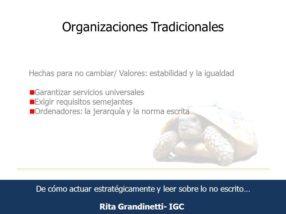 Organizaciones Tradicionales