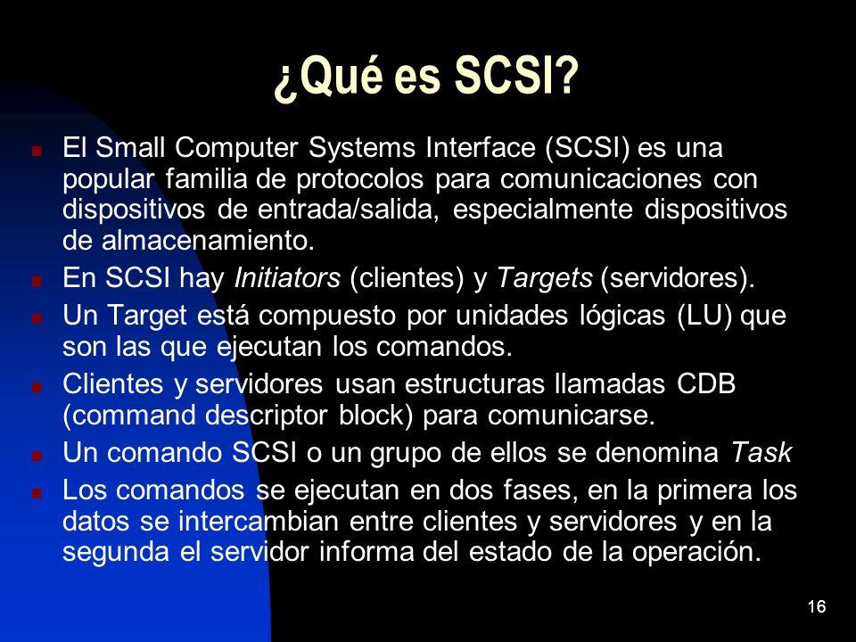 ¿Qué es SCSI