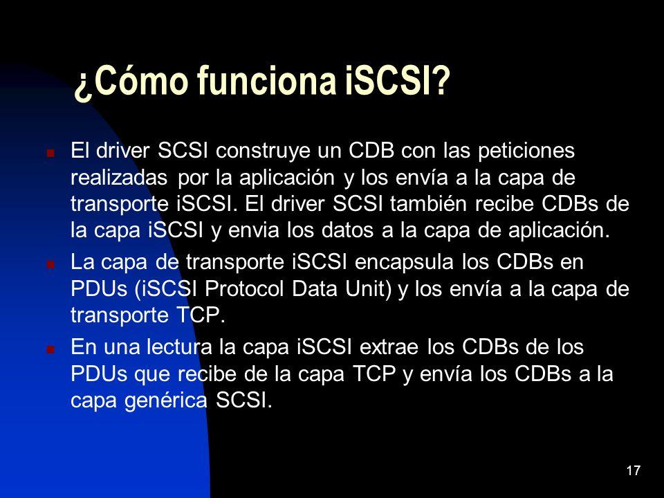¿Cómo funciona iSCSI