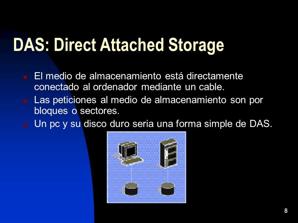 DAS: Direct Attached Storage