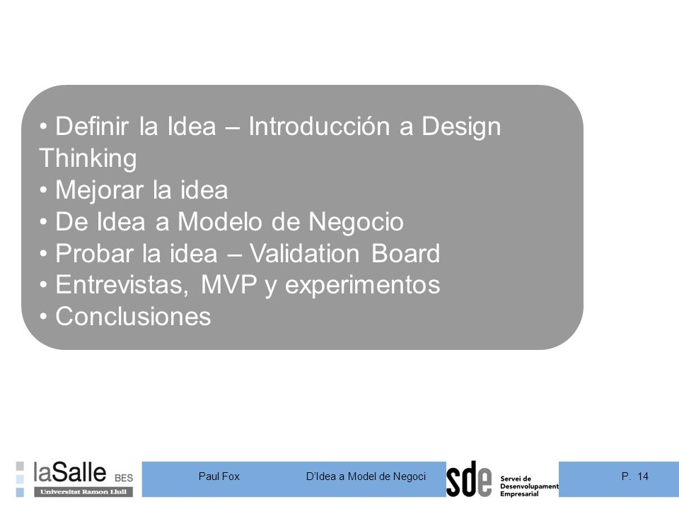 Definir la Idea – Introducción a Design Thinking