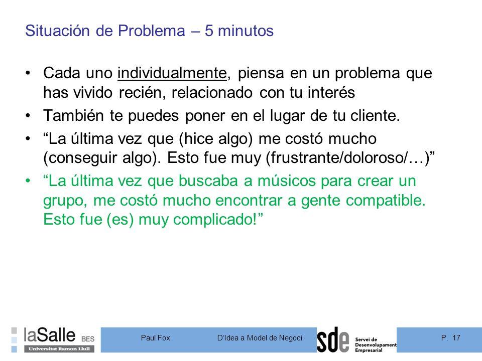 Situación de Problema – 5 minutos