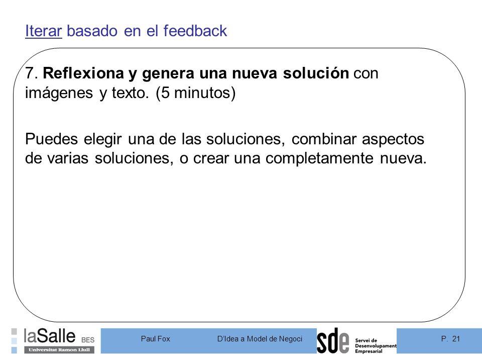 Iterar basado en el feedback