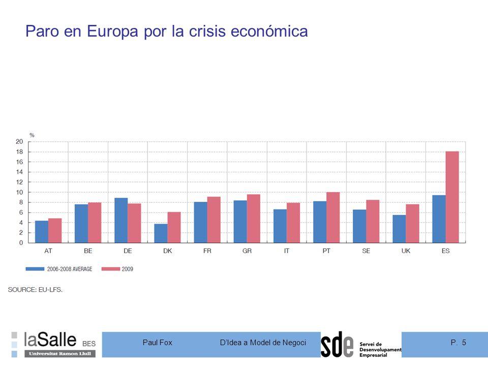 Paro en Europa por la crisis económica