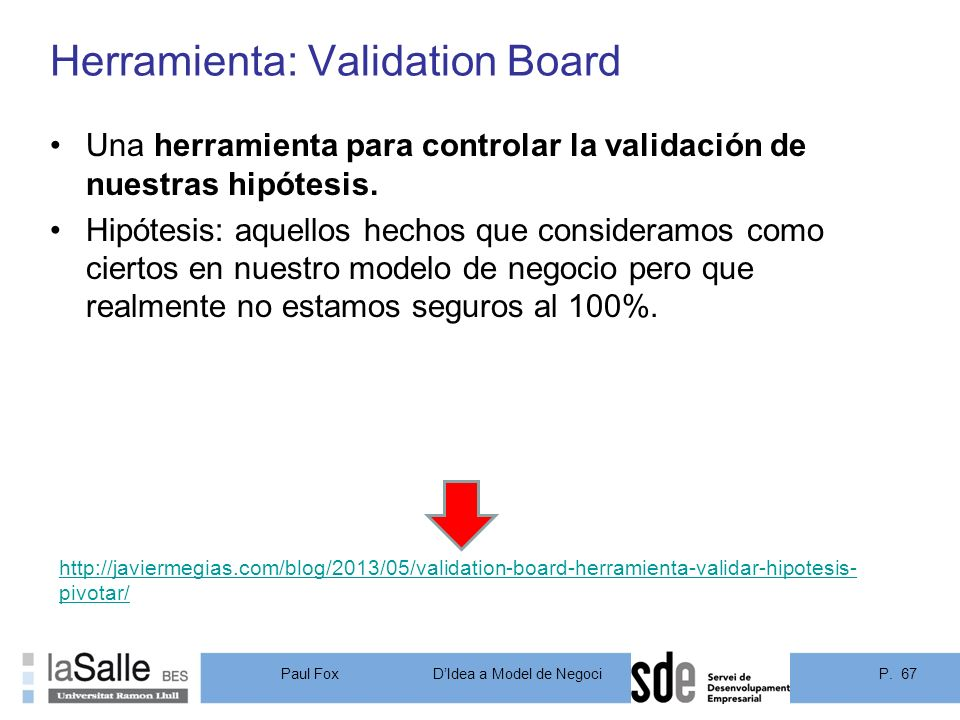 Herramienta: Validation Board