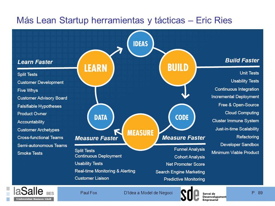 Más Lean Startup herramientas y tácticas – Eric Ries