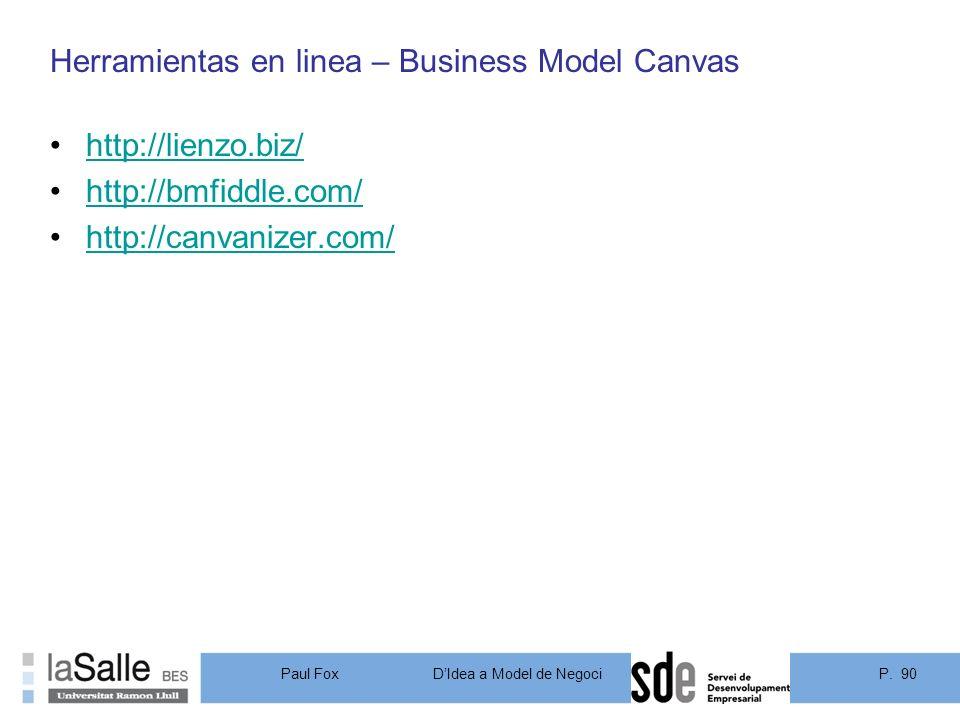 Herramientas en linea – Business Model Canvas