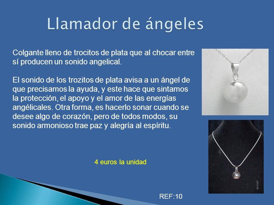 Llamador de ángeles Colgante lleno de trocitos de plata que al chocar entre sí producen un sonido angelical.