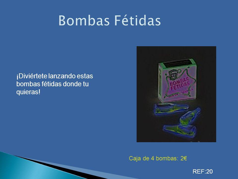 Bombas Fétidas ¡Diviértete lanzando estas bombas fétidas donde tu quieras.