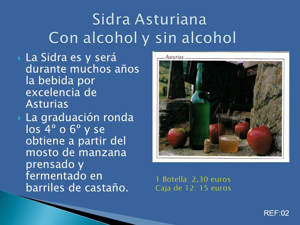 Sidra Asturiana Con alcohol y sin alcohol
