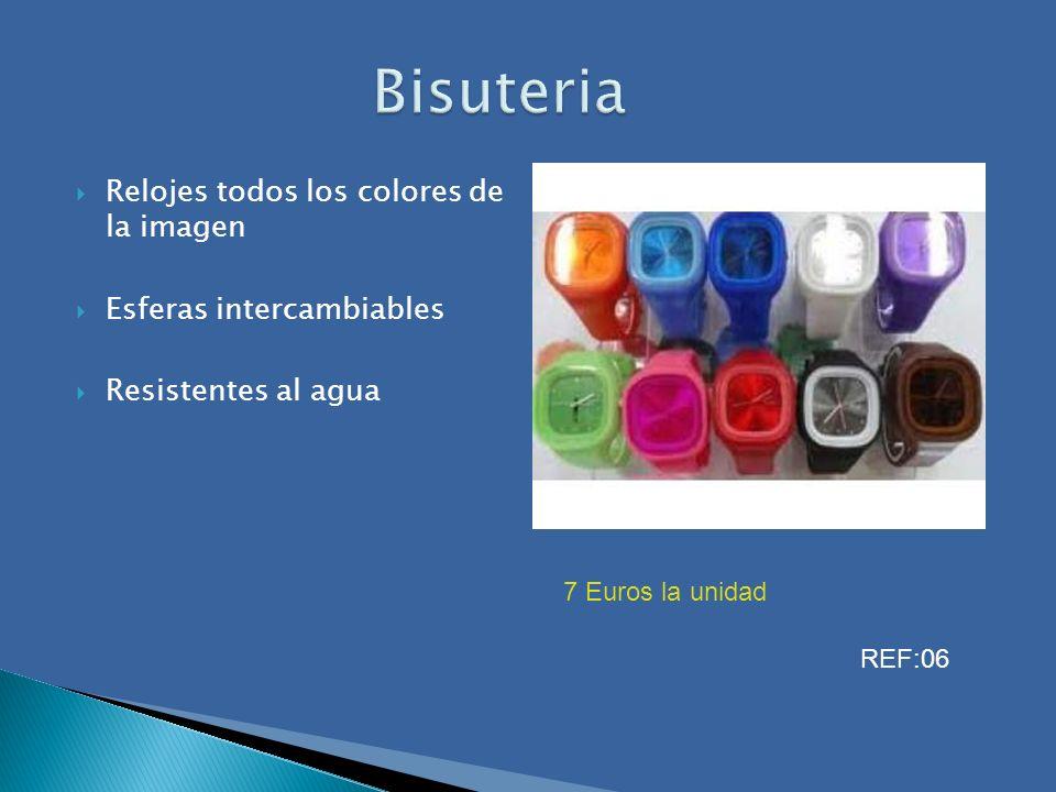 Bisuteria Relojes todos los colores de la imagen