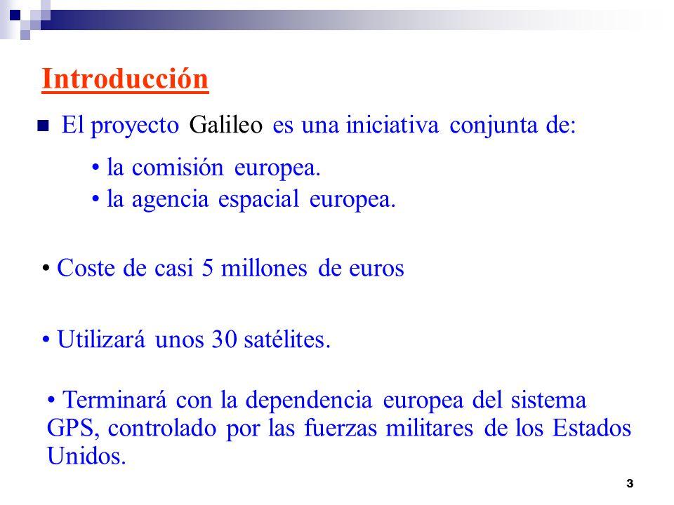 Introducción El proyecto Galileo es una iniciativa conjunta de: