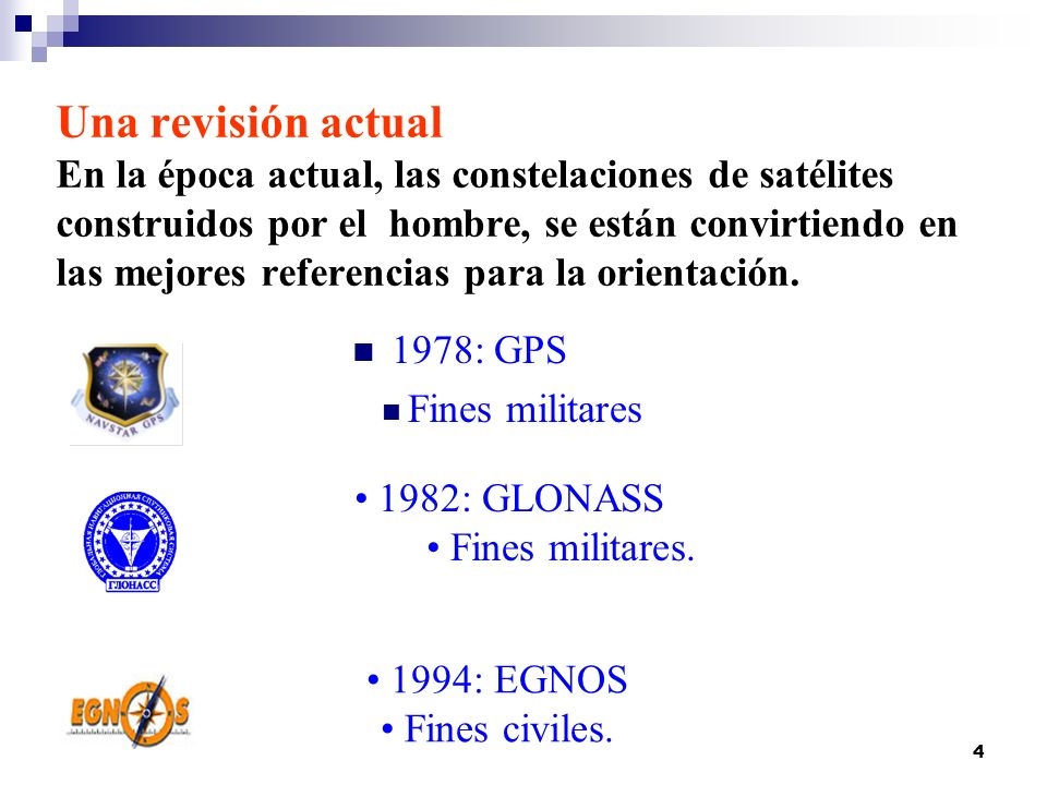 Una revisión actual En la época actual, las constelaciones de satélites construidos por el hombre, se están convirtiendo en las mejores referencias para la orientación.