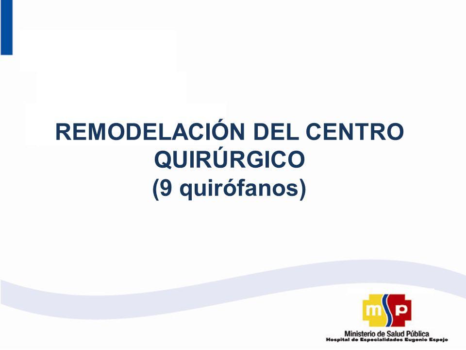 REMODELACIÓN DEL CENTRO QUIRÚRGICO