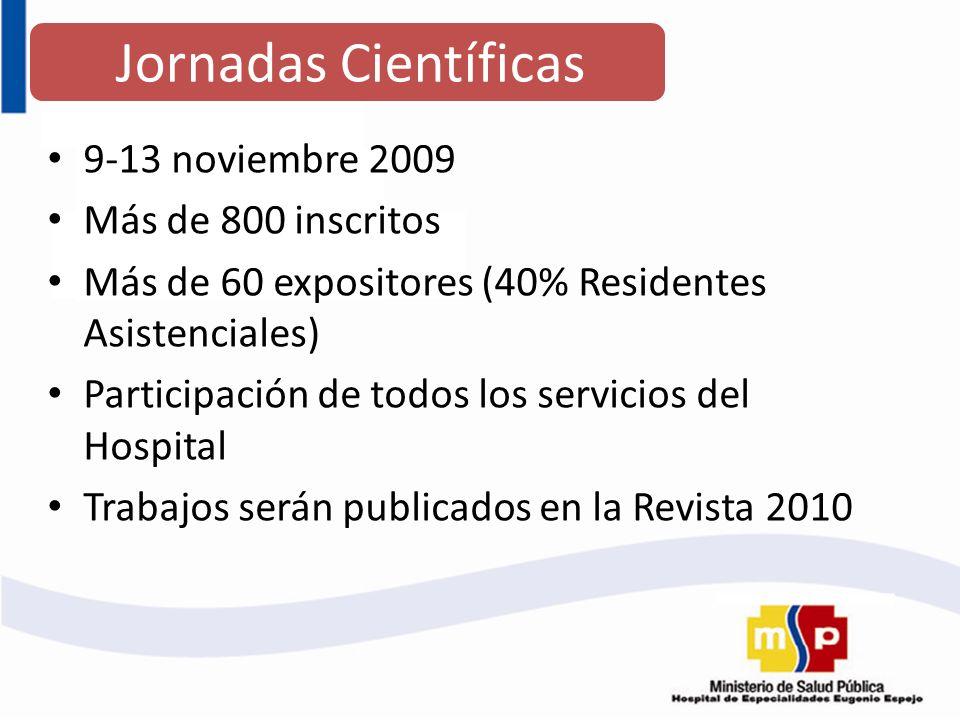 Jornadas Científicas 9-13 noviembre 2009 Más de 800 inscritos