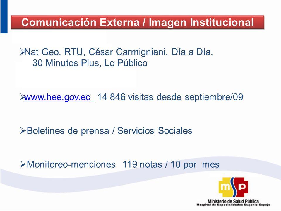 Comunicación Externa / Imagen Institucional