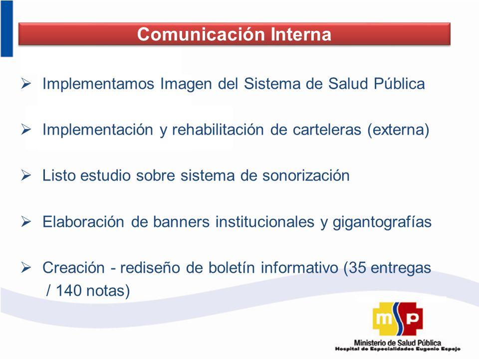 Comunicación Interna Implementamos Imagen del Sistema de Salud Pública