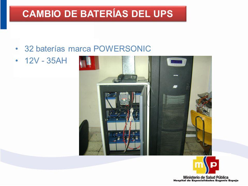 CAMBIO DE BATERÍAS DEL UPS
