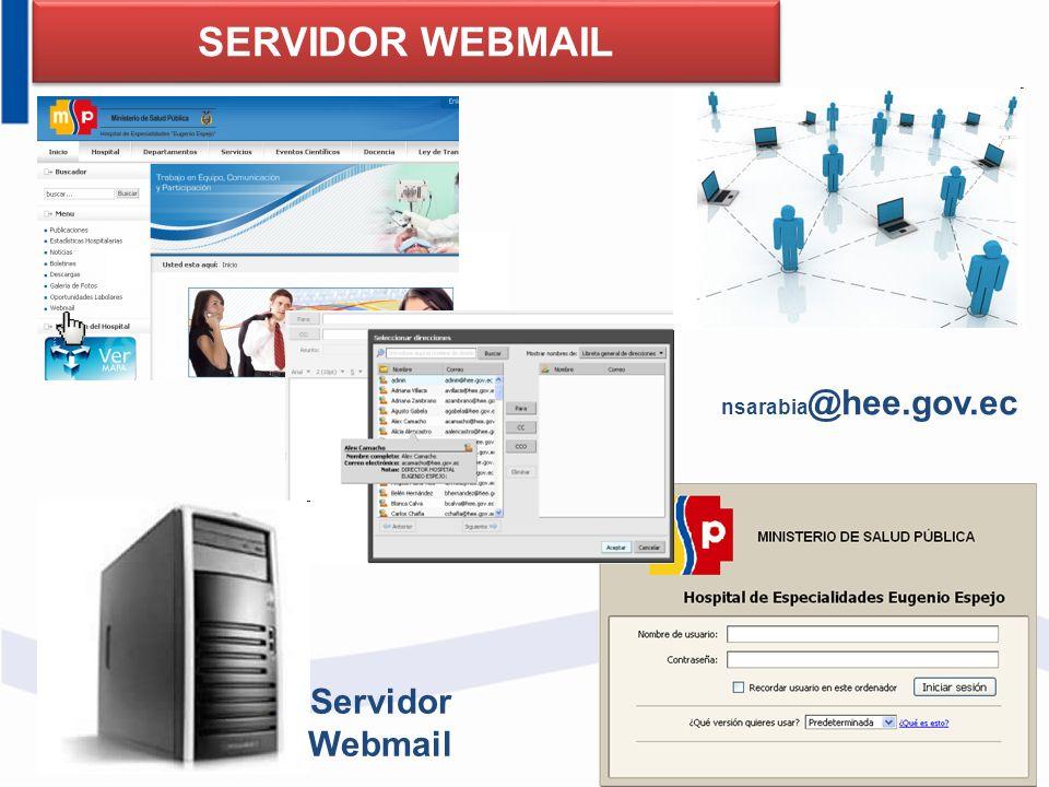 SERVIDOR WEBMAIL nsarabia@hee.gov.ec Servidor Webmail 91