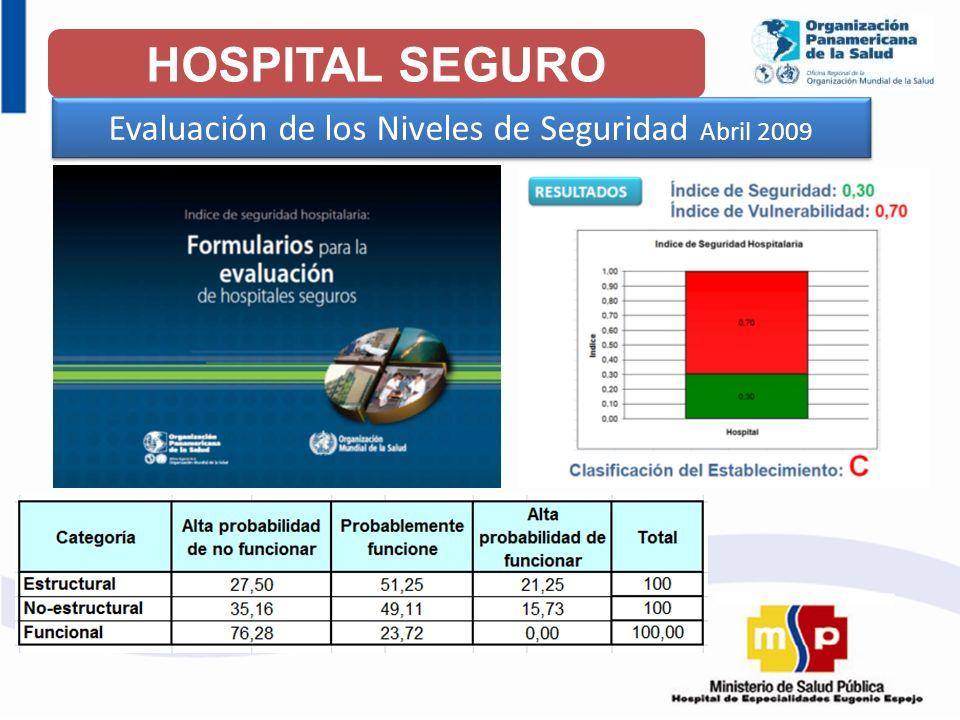Evaluación de los Niveles de Seguridad Abril 2009