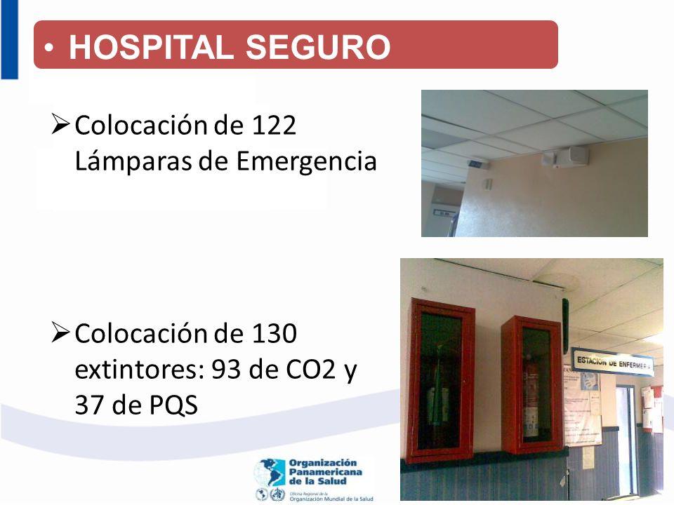HOSPITAL SEGURO Colocación de 122 Lámparas de Emergencia
