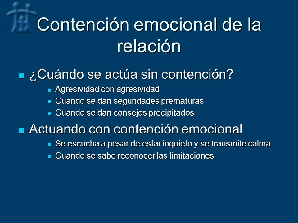 Contención emocional de la relación