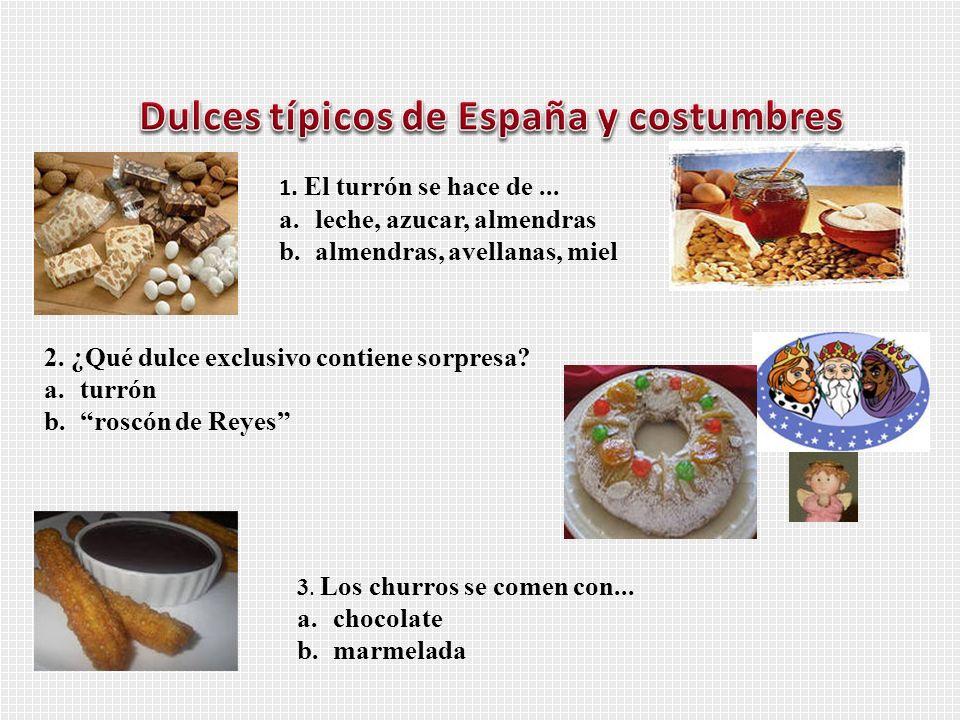Dulces típicos de España y costumbres