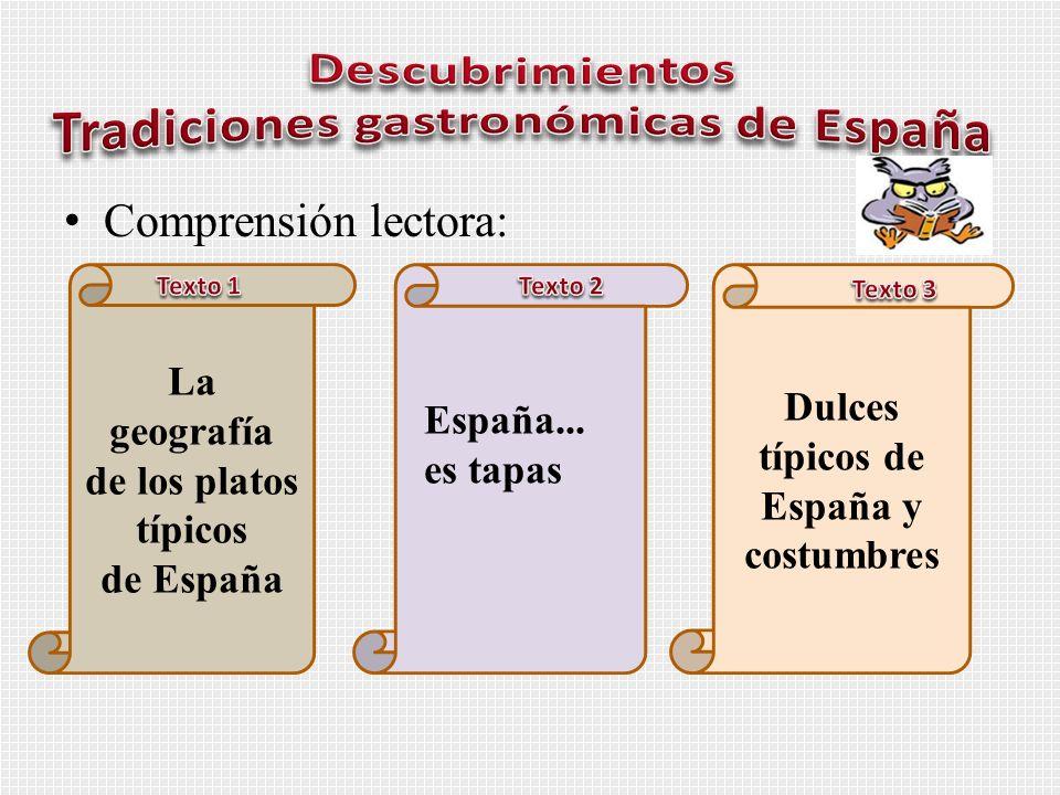 Descubrimientos Tradiciones gastronómicas de España