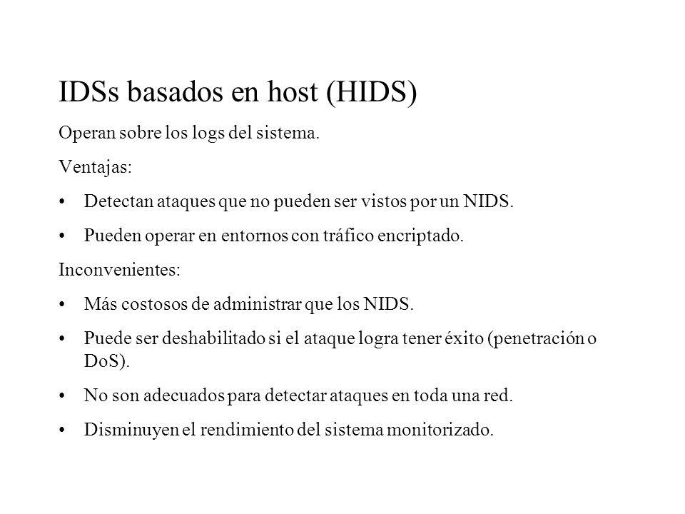 IDSs basados en host (HIDS)