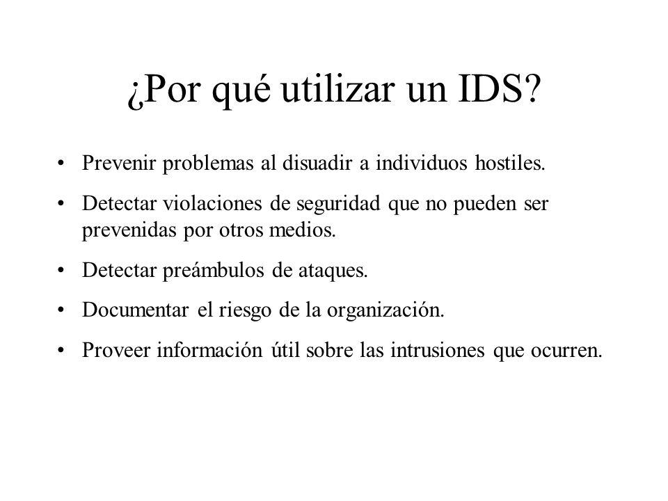 ¿Por qué utilizar un IDS