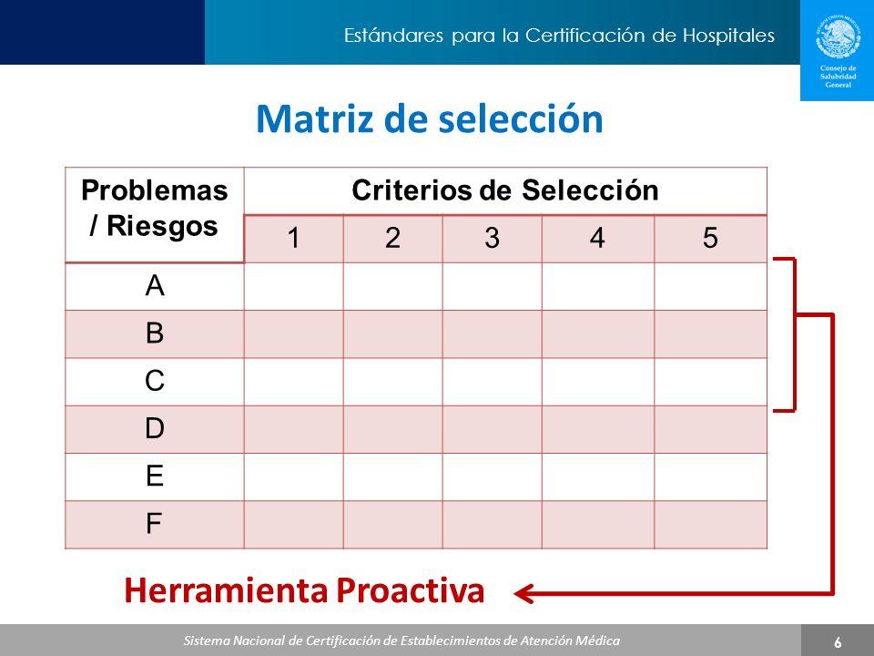 Criterios de Selección Herramienta Proactiva