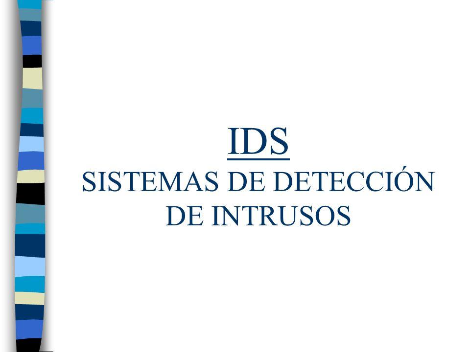 IDS SISTEMAS DE DETECCIÓN DE INTRUSOS