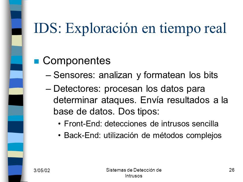 IDS: Exploración en tiempo real