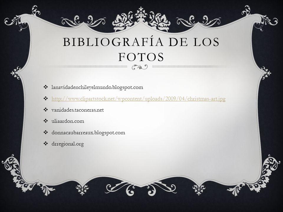 Bibliografía de los Fotos