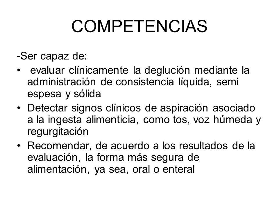 COMPETENCIAS -Ser capaz de: