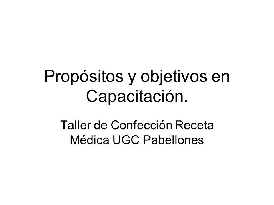 Propósitos y objetivos en Capacitación.