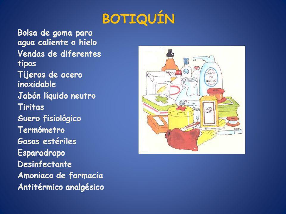 BOTIQUÍN Bolsa de goma para agua caliente o hielo