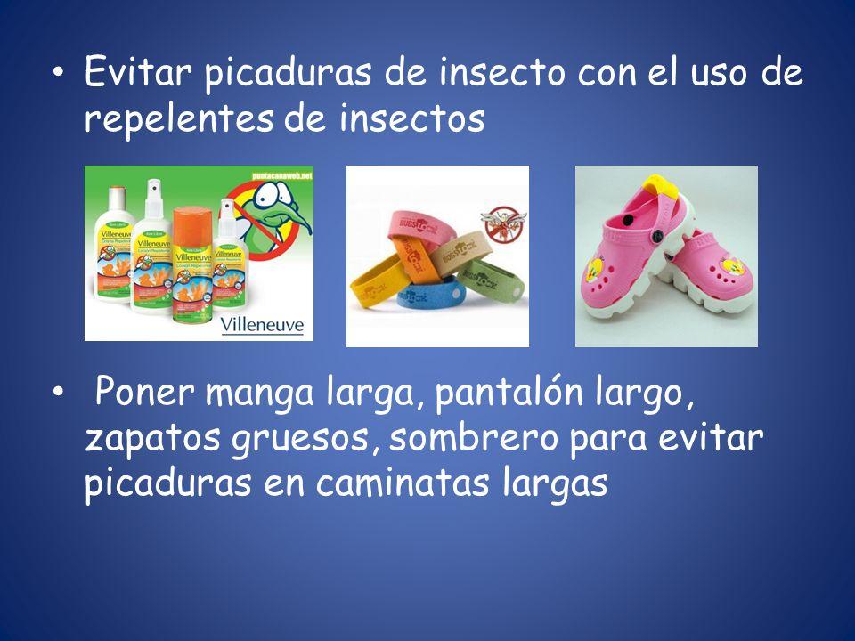 Evitar picaduras de insecto con el uso de repelentes de insectos