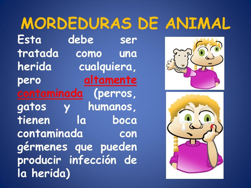 MORDEDURAS DE ANIMAL