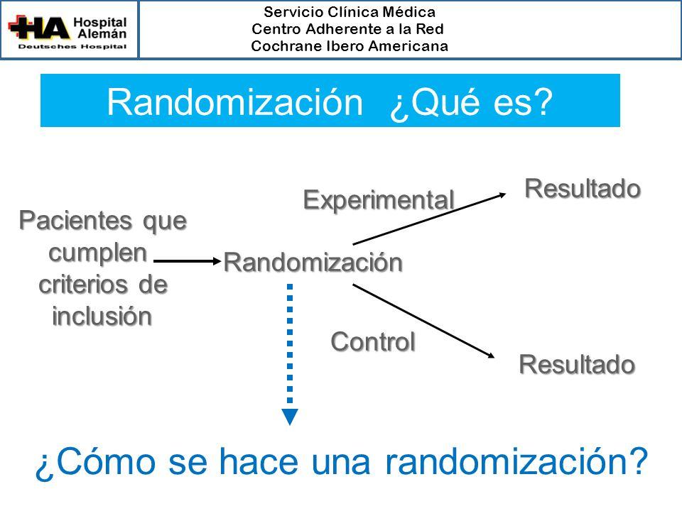 ¿Cómo se hace una randomización