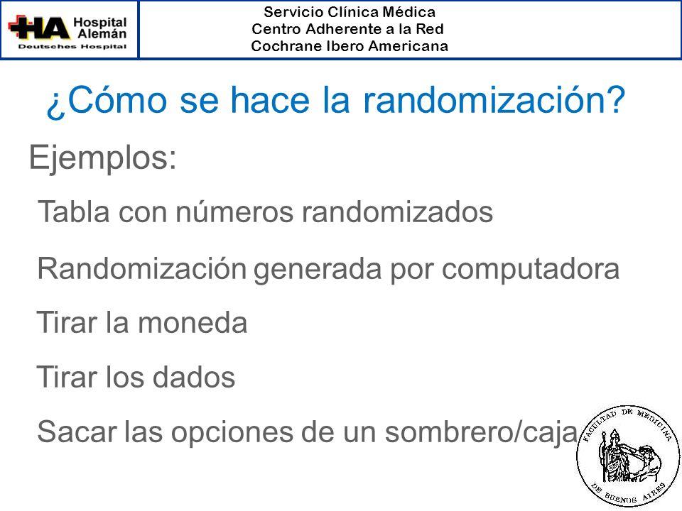 ¿Cómo se hace la randomización