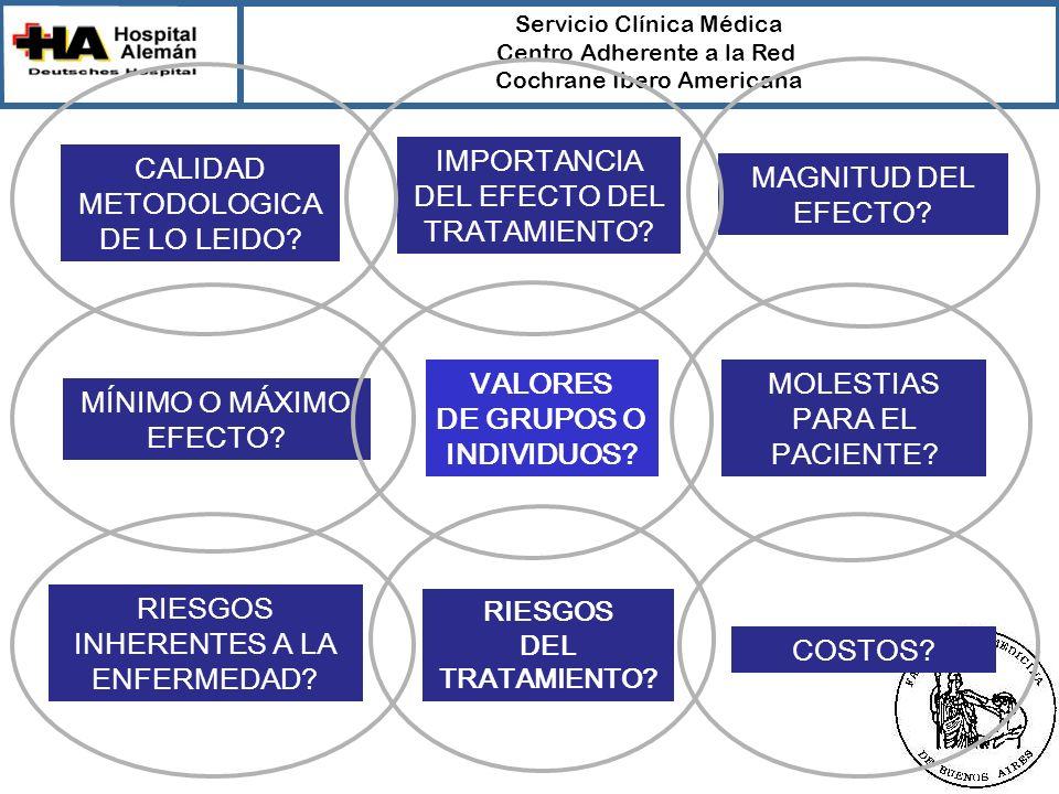 VALORES DE GRUPOS O INDIVIDUOS