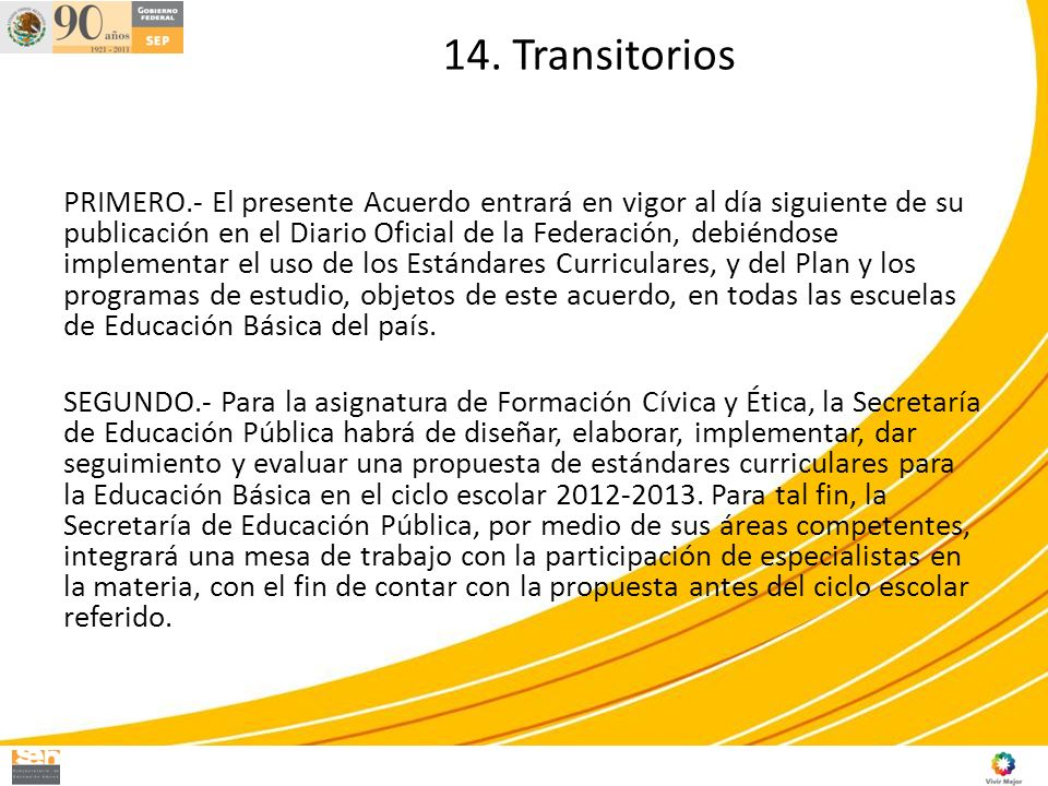 14. Transitorios