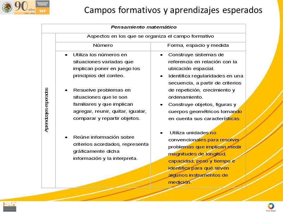 Campos formativos y aprendizajes esperados