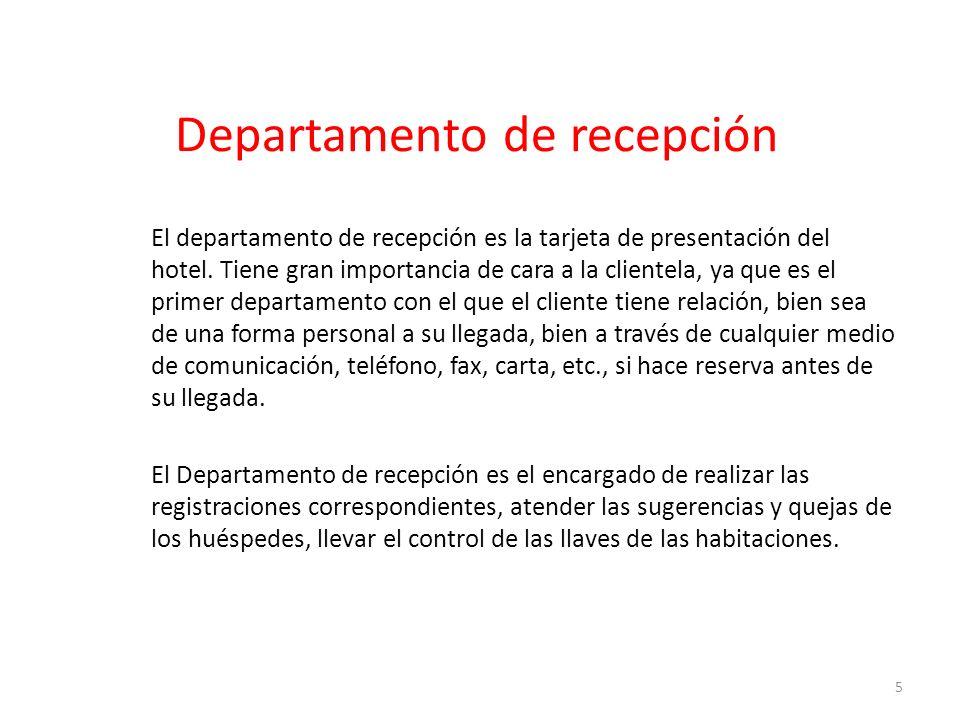 Departamento de recepción