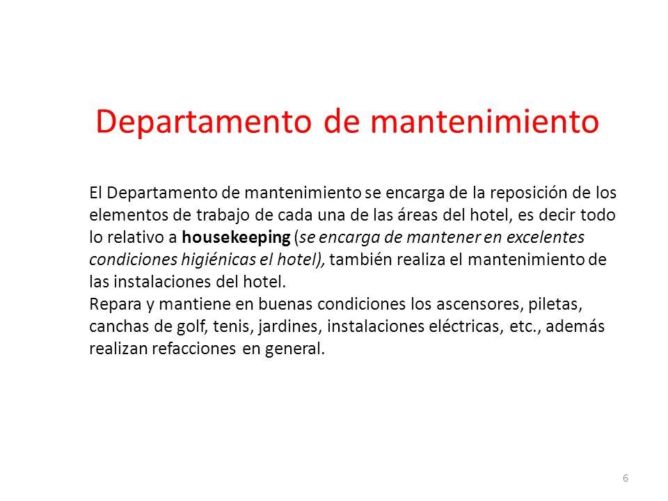 Departamento de mantenimiento