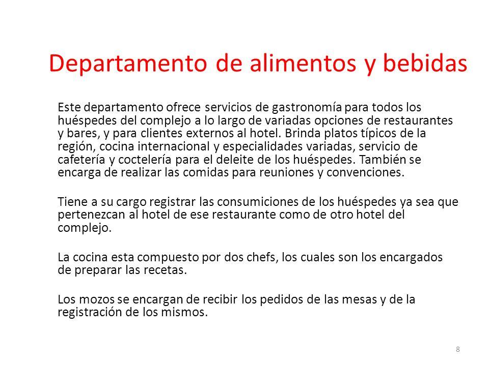 Departamento de alimentos y bebidas
