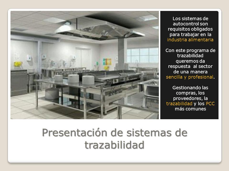 Presentación de sistemas de trazabilidad