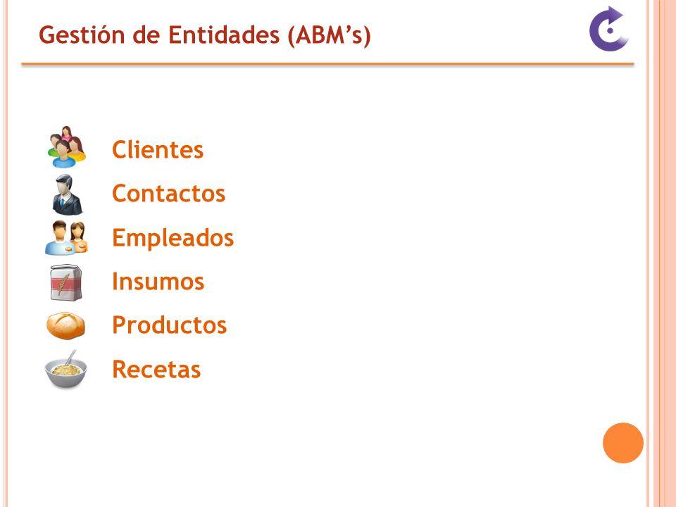 Gestión de Entidades (ABM's)