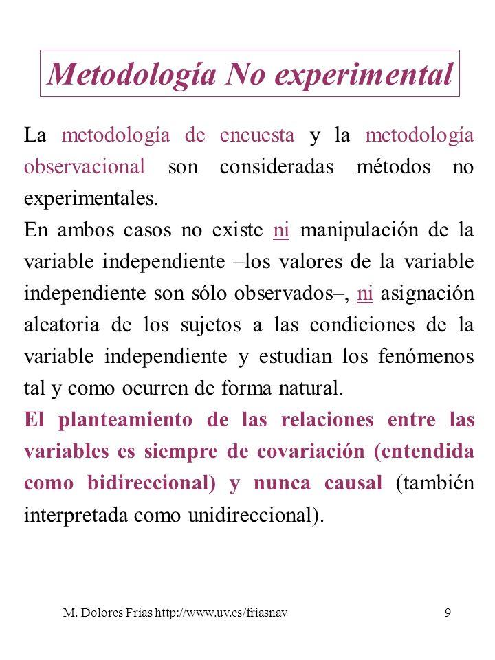 Metodología No experimental
